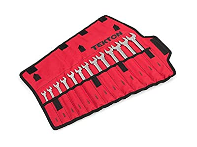 TEKTON  WRN-03287  Combination Wrench Set with Roll-up Storage Pouch, Inch, 1/4-Inch - 3/4-Inch, 9-Piece