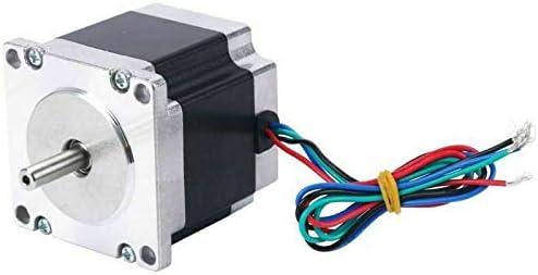 "Schrittmotor Stepper Motor Nema 23 1.8° 4-wires 2.2/"" Long 4 Channel Single Shaft"
