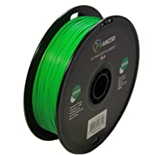 1.75mm Green PLA 3D Printer Filament - 1kg Spool (2.2 lbs) - Dimensional Accuracy +/- 0.03mm
