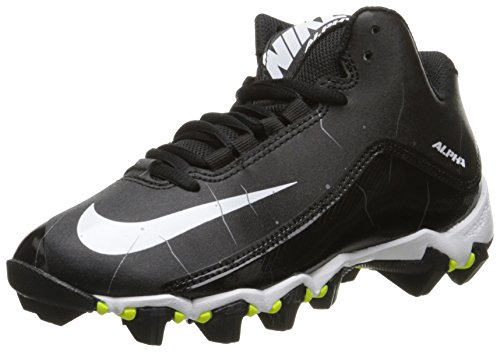 NIKE Boy's Alpha Shark 2 3/4 Football Cleat Black/Anthracite/White Size 5 M US