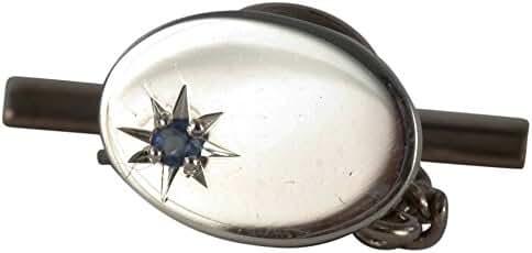 Sapphire Oval Sterling Silver Tie Tac by David Van Hagen