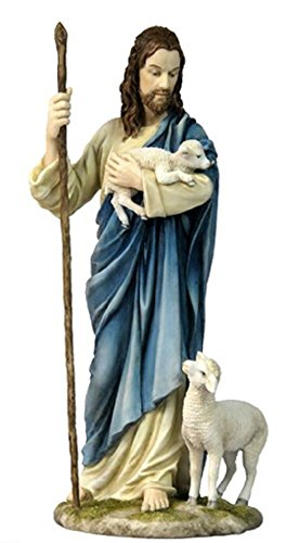 A statue of the Good Shepherd, hand-painted, form the Veronese Collection, (Veronese Collection)