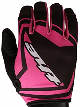 THE Industries Hex Youth Lightweight BMX and Mountain Bike Gloves, Black/Pink, X-Large VSI Products YTHG
