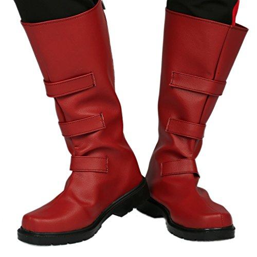 Daredevil Boots Shoes Halloween Costume Cosplay Red PU Accessories US6.5 (Daredevil Superhero Halloween Costume)
