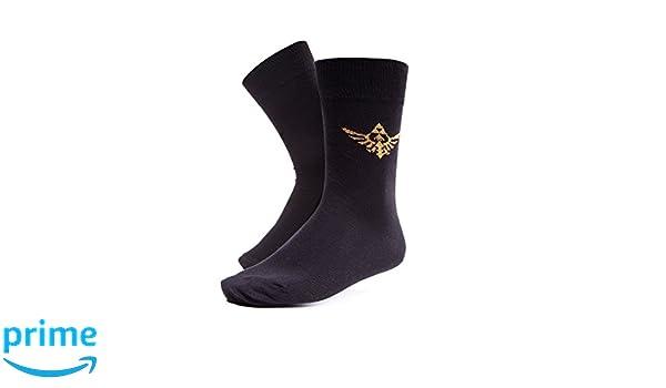 Zelda The Legend Of fedcr406899ntn-39 wingcrest logotipo negro calcetines para hombre (talla 6 - 8): Amazon.es: Juguetes y juegos