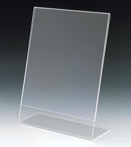 Set of 25, Clear Acrylic Sign Frames for 8-1/2