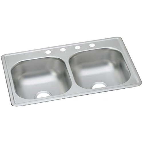 Elkay D233193 Dayton Equal Double Bowl Drop-in Stainless Steel - Steel Sink Stainless Dayton 3