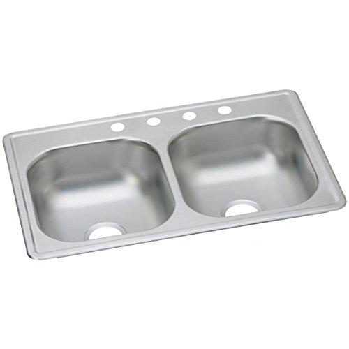 Elkay D233193 Dayton Equal Double Bowl Drop-in Stainless Steel Sink