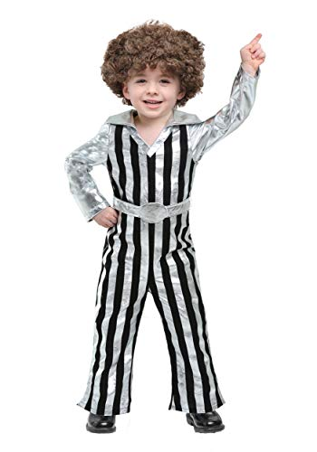 Dazzling Disco Dude Toddler Costume 2T Silver -
