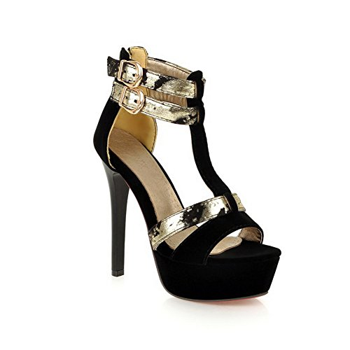 Adee Womens Dress Zip Polyurethane Sandals Black WoEbqEe