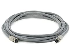 Experience superb sonic clarity and accurate musical reproduction with this Premium Optical Toslink cable from Monoprice! Optical S/PDIF (aka Toslink) cables are an excellent way to distribute high-definition multi-channel audio without the r...