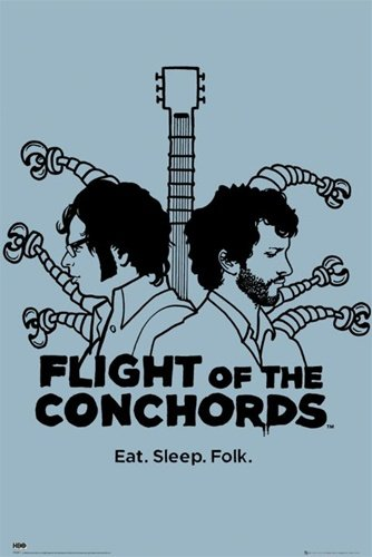 Flight of the Conchords Robots TV Humour Poster 24 x 36 inches (Flight Of The Conchords Poster)