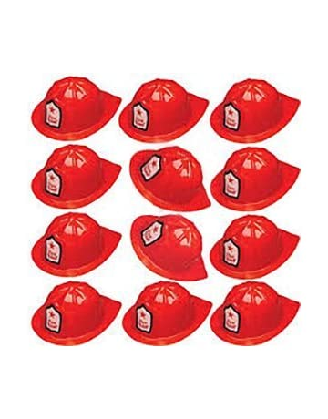 f94676c83c0 Adorox 12 Pcs Firefighter Chief Soft Plastic Hat Party Favor