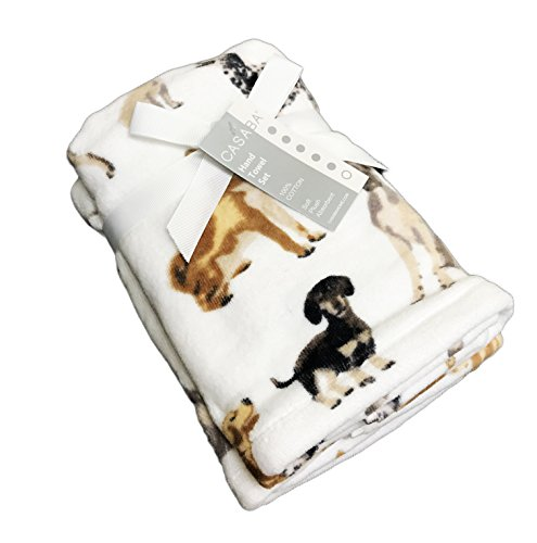 (Casaba Cute Multi Dog Breeds Themed Set of Two Bathroom Guest Hand)