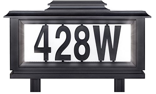 (The Black Series Solar-powered Lighted Address Stake (Basic pack))