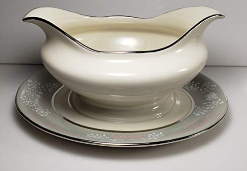 - Castleton Lace Gravy Boat and attached Underplate
