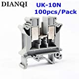 Davitu UK-10N UK Series Universal Terminal Block Terminal Connector/Cable Connector/Wire Connector/Splice 100PCS/Pack