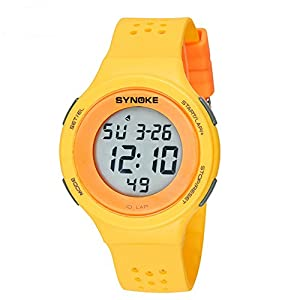 Men's and women's Multifunction watches,Led electronic watch 50m waterproof Luminous Timing Date Alarm clock Leisure Students watch-E