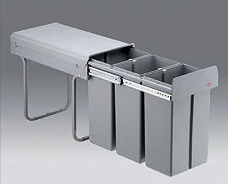 Wesco Bio Trio 30 Dt Cuisine Poubelle 3x10l Montage Au Plancher