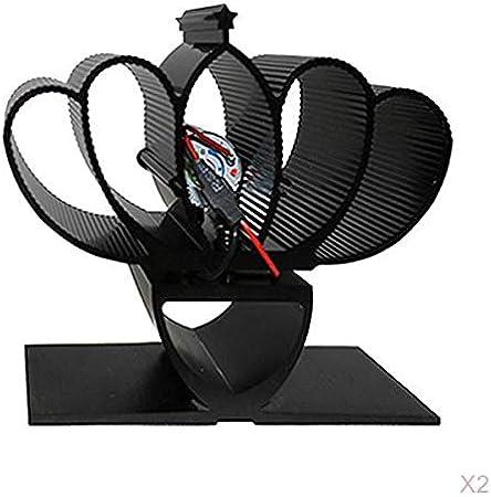 F Fityle Ventilador de Estufa Ventilador de Estufa de Leña Eficiente para Autoalimentación