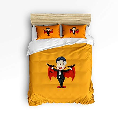 YEHO Art Gallery Soft Duvet Cover Set Bed Sets for Children Kids Girls Boys,Cartoon Vampire Design Happy Halloween Bedding Sets Home Decor,1 Comforter Cover with 2 Pillow Cases,Full Size for $<!--$105.28-->
