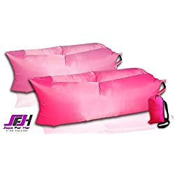 Inflatable Lounger - Easiest Lounger to Inflate, Lazy Bag Air Hammock Hot Pink Fuchsia