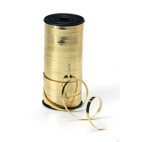 Curling Ribbon - 5mm wide - Gold - 100 yards (Ribbon Curls)