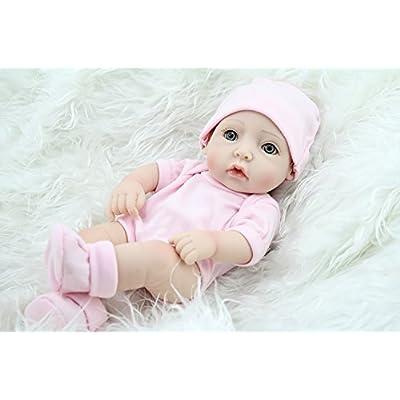 "TERABITHIA Mini 11"" Alive Newborn Baby Dolls Silicone Vinyl Full Body Washable for Girl: Toys & Games"