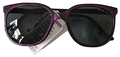 Vintage Bolle 396 Purple W/ Black Pattern Sunglasses Acrylex Gray Lenses 100% UV Protection Made In France Retro Mens Womens 80's Retro Sunglasses - Bolle Discount Sunglasses