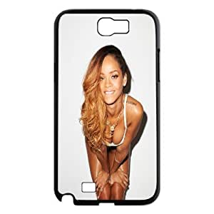 Samsung Galaxy Note 2 Case Rihanna's Rolling Stone Flue Cheap for Boys, Case for Samsung Galaxy Note 2 for Women Tyquin, [Black]