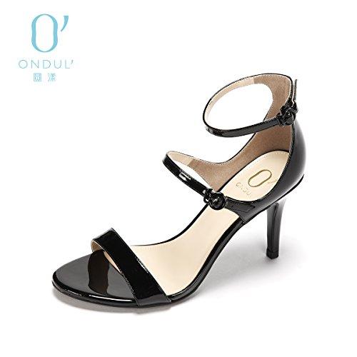 SHOESHAOGE Fashion Multicolor Une Note Avec Toe Heels Qui Fuit Couleur unie zblSoysp