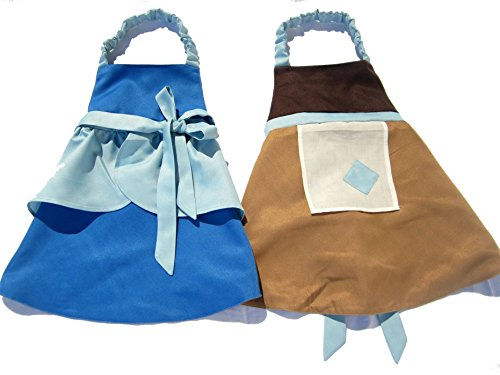 Bibbidi Boutique Princess Dress Up Apron Costume Reversible (at The Stroke of Midnight) Blues and