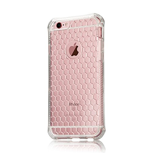 Jisoncase iPhone 6 6s Case Transparent Handyhülle Silikon Hülle I Phone Ledertasche Durchsichtige Etui Ultra Slim Gummi Tasche