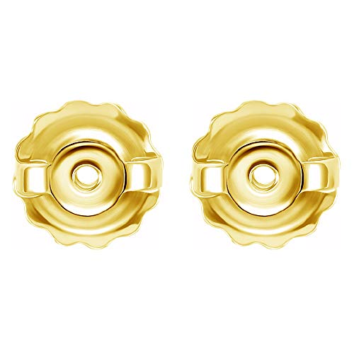 Earrings backs replacements 14K Yellow Gold by Glitz Design Threaded Posts Large 0.034