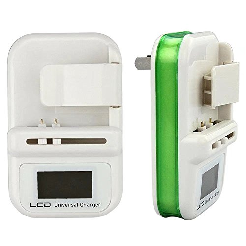 HonsCreat Universal Cell Phone Camera Li-ion Battery Wall Travel Charger w/ LCD Screen USB