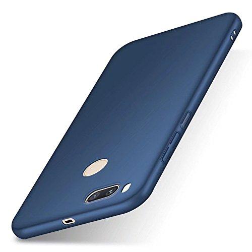 SMTR Xiaomi Mi A1 Funda, Calidad Premium Cubierta Delgado Caso de PC Hard Gel Funda Protective Case Cover para Xiaomi Mi A1 -Azul Azul