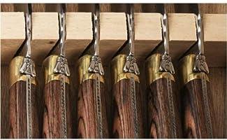 Amazon.com: Laguiole – Juego de cuchillo de carne de acero ...
