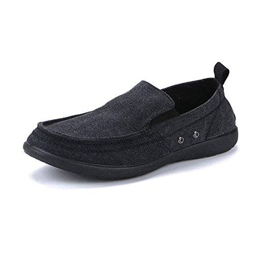uomo scarpe scarpe WFL Nero estate da di da traspirante scarpe uomo casual da scarpe Scarpe uomo pedali da pigri uomo tela v7RvrYq