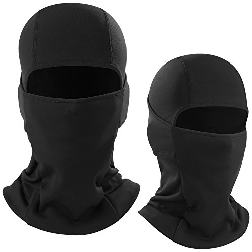 - WTACTFUL 2 Pack - Balaclava Windproof Ski Face Mask Winter Thermal Neck Warmer Hood Cover Polyester Fleece Mask for Snowboard Snowmobile Cycling Motorcycles Riding Hunting Fishing Men Women Black