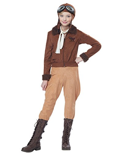 (California Costumes Amelia Earhart/Aviator Costume, Medium,)