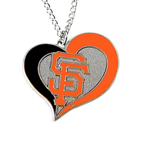 aminco MLB San Francisco Giants Swirl Heart Necklace
