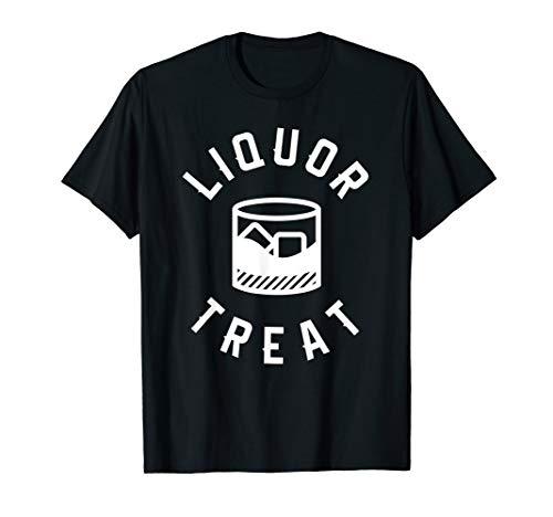 Liquor Treat Halloween Funny Drinking Whiskey T-Shirt -