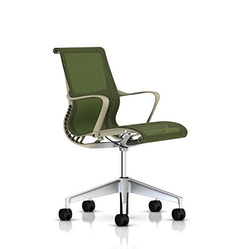 Herman Miller Setu Chair: Ribbon Arms - Standard Carpet Cast