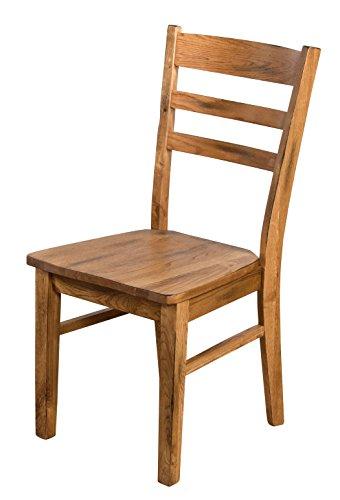 Sunny Designs 1616RO Ladderback Chair, Rustic Oak Finish (Finish Chair Oak Accent)