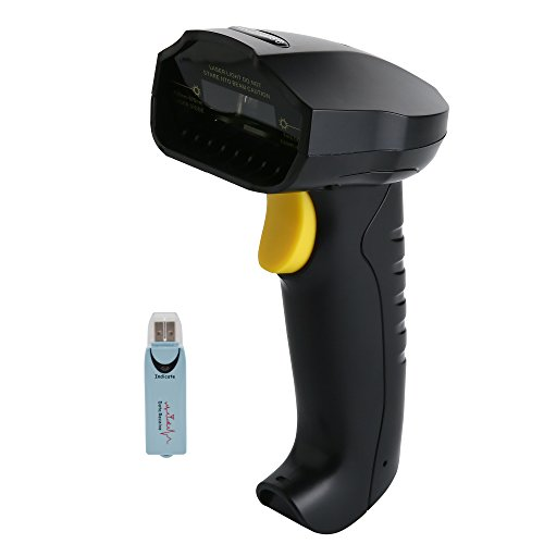 TaoHorse 2-in-1 2.4GHz Wireless & USB Wired Barcode Scanner Handheld 1D Laser Automatic Bar Code Reader with Memory 60m Range Fast and Precise Scan for Laptop Computer POS Inventory Management