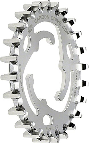 Gates Carbon Drive Surefit Center Track Bike Belt Drive Rear Sprocket (Silver - 24T x Alfine/Nexus Hub 11 Pitch)