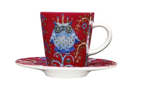 Taika Espresso Cup - Iittala Taika 3-2/5-Ounce Capacity Espresso Cup, Red