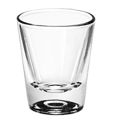 LIB5121 - Libbey Whiskey Service Drinking Glasses, Whiskey, 1-1/4 Oz., 2-3/8 Inch Height by Libbey
