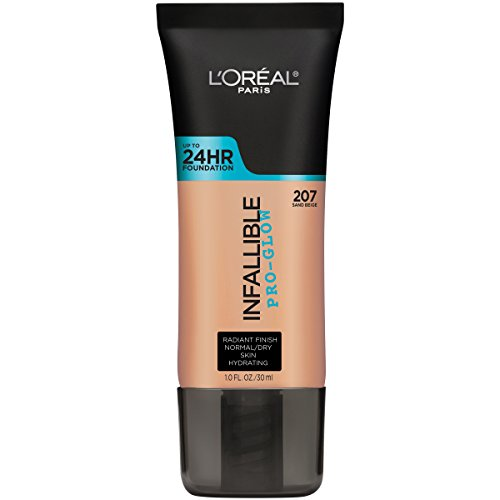 L'Oréal Paris Infallible Pro-Glow Foundation, Sand Beige, 1 fl. oz.