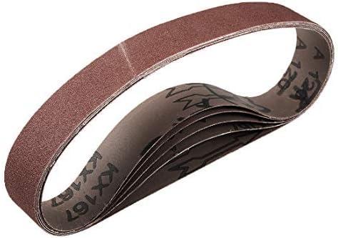 1 inch x 21 inch aluminum oxide sand belts. 120 Grains for belt sander 5 pieces